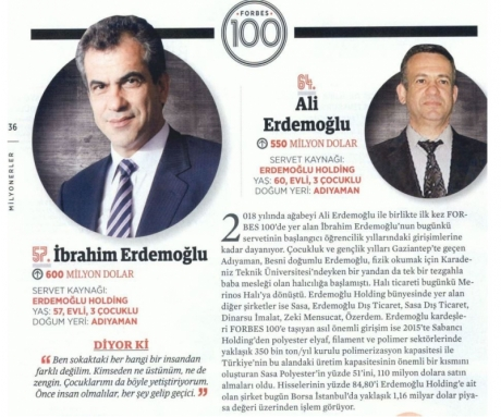 The Source of İbrahim Erdemoğlu and Ali Erdemoğlu Wealth